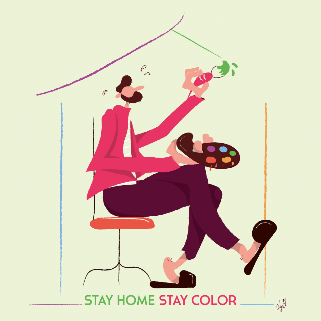 Stay home stay color